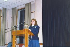 Kathleen Cleland speaking