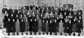 Group photo of first year students of OMBS, 1951.