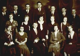 Sunday school class of Abram J. Dick. Front row