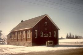 Colour photograph.  The Shantz Mennonite Church