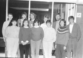 Conrad Grebel student council and dons, 1988/89