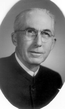 Oscar Burkholder in 1940s? Ordained minister in