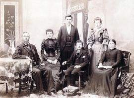Jacob and Elizabeth Steckle family. L-R: Jacob 20