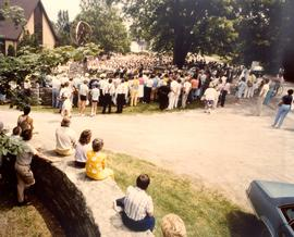 July 1, 1986 at Mennonite Bicentennial memorial.