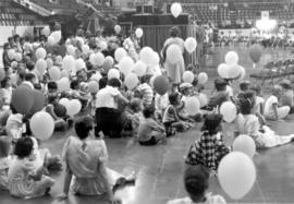 Children assembled July 6, 1986 at Kitchener