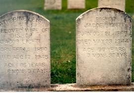 (Colour) Tombstones for Bishop Jacob Lichti and