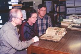 George and Anna Reesor donating the Reesor Bible