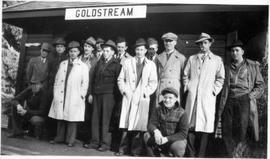 Alternative Service workers at the Goldstream train station