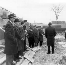 Group visiting the construction site of Conrad