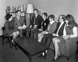 Conrad Grebel head residents with student council, 1968/69