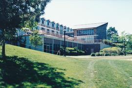 An exterior view of Conrad Grebel College in
