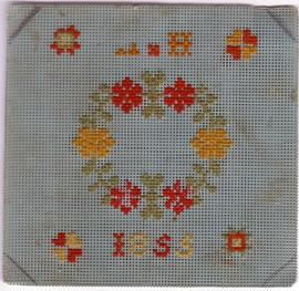 Needlework, 1855. Origin unknown.