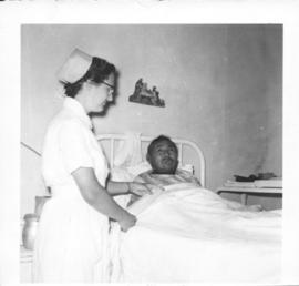 Vera Snyder and an Indian patient at Clearwater Lake Sanatorium