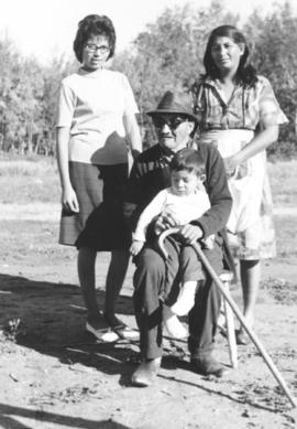 Four generations on the Beardy Indian Reservation