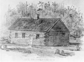 Artist's sketch of First Mennonite Church
