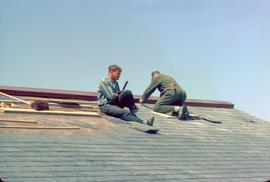 Conrad Grebel College Chapel Roof, June, 1964;