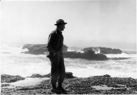 Wilson Hunsberger at the Pacific Ocean