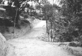 View of part of the completed road at Taiwanese work camp