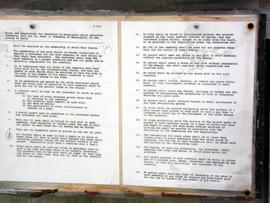 Cemetery regulations at the Mornington Amish