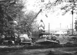 Bulldozers, cranes & dump trucks used by Mennonite Disaster Service in Pennsylvania