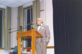 J. Winfield Fretz speaking