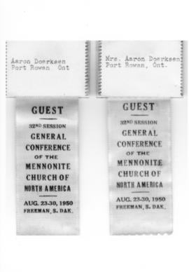 General Conference ribbons, 1950