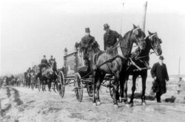 A funeral procession in the New Dundee Area with