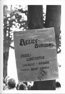 "Poster for ""Relief Burgers"""