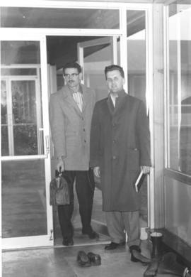 Adolf Ens and Ray Vogt upon their return from