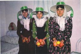 Mennonite girls in Chihuahua postcard