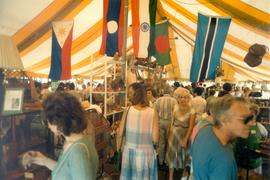 Shoppers in Self Help Crafts Tent at Toronto