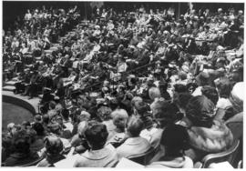 Audience at the inaugural ceremony of Conrad Grebel College