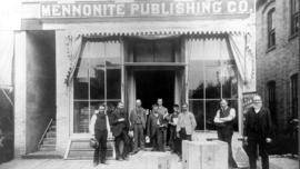 Employees at the Mennonite Publishing Company, 1880