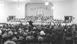 Mass Children's choir performing in the St. Jacobs Mennonite Church