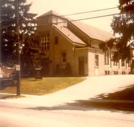 Colour photo.  Erb Street Mennonite Church.  The