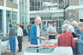 Dinner on the patio at Conrad Grebel's 40th anniversary reunion