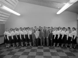 Junior chorus for Rockway Mennonite School in 1960