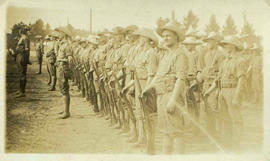 118th Battalion men parading