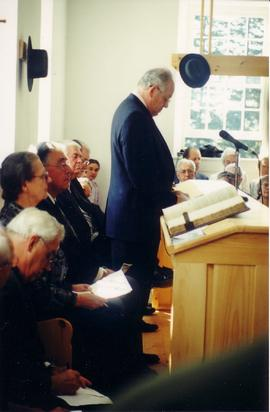 Dedication of Detweiler Meetinghouse, Roseville,