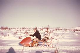 A one person snowmobile