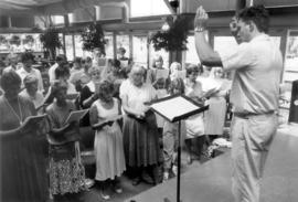 Choir rehearsal at Bicentennial Festival, Aug. 3,