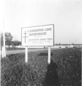 Entrance sign to Clearwater Lake Sanatorium