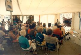 Story-telling tent at Toronto Harbourfront, Aug.