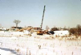 Conrad Grebel College construction site, Febrary
