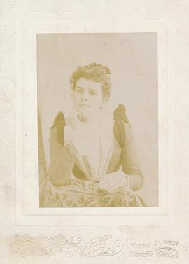 A portrait of Lydia Ann Eby. Photo located in