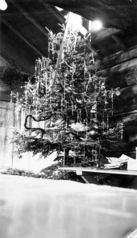 Christmas tree at the Montreal River Alternative Service camp