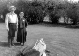 (Two copies) Harold and Mildred Nigh at Pioneer