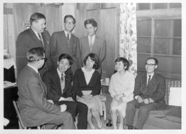 Ferd Ediger and Frank H. Epp with Japanese students