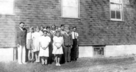 Summer Bible School class at Biehn Mennonite