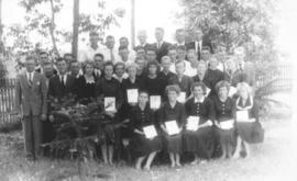 A group photo of young people; possibly a